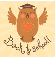 Back to school card with an owl vector