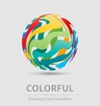 Colorful ball business icon vector