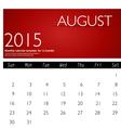 Simple 2015 calendar august vector