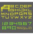 Scotch tape alphabet vector