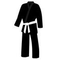 Black kimono vector