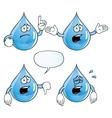 Crying water drop set vector