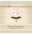 Grunge vintage christmas background vector