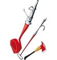 Fire-fighting equipment vector
