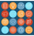 Flat icons - seo symbols in outline style vector