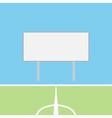 Soccer field with blank scoreboard vector