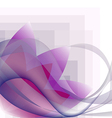 Waves transparent and pink flower pattern geometri vector