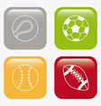 Sport balls design vector