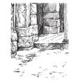 Stone gate vector