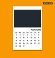 March 2015 calendar vector