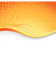 Abstract orange cubic background - geometry vector
