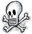 Humorous skull vector