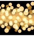 Black background with gold bokeh vector