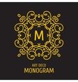 Vintage floral logo floral monogram design vector