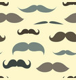 Trendy pattern with mustache vector