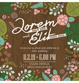 Wedding invitation card with foliage background vector
