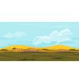 Fields game background landscape vector
