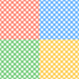 Set of seamless checkered textures vector