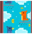 Square bird vector