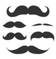Set of cute mustache vector
