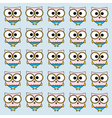 Owl background vector