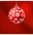 Hristmas background with red ball eps 8 vector