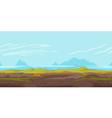 Hills game background landscape vector