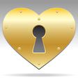 Lock shape heart object vector