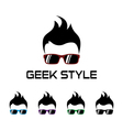 Geek style logo template vector