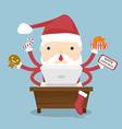 Santa claus busy vector