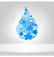 Blue drop of water on a white background a vector