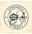Grunge rubber stamp with istambul turkey vector