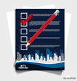 Note papers a checklist with red marker and white vector