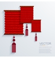 Modern chinese paper lantern background vector