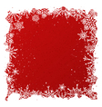 Grunge red christmas background vector