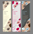 Three vertical banner vector