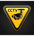 Cctv triangle sign vector