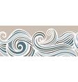 Abstract horizontal seamless waving background vector