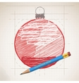 Sketch drawing of christmas background vector