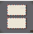 Two airmail envelope on gray background vector