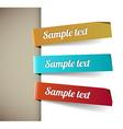 Set of paper tags retro colors vector