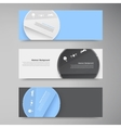 Banner set  colorful circle vector