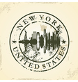 Grunge rubber stamp with new york usa vector