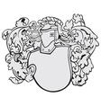 Aristocratic emblem no6 vector