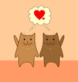 Lovely cats vector