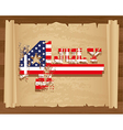 Design of independence day on papyrus roll vector