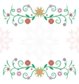 Frame of flowers ckech vector