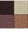Roasted coffee beans background vector