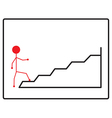 Walking up the stairs vector