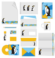 Corporate identity stationery template design vector